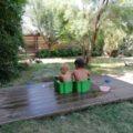 mini piscinute din cutii de plastic