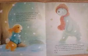 carte de craciun pentru copii om de zapada