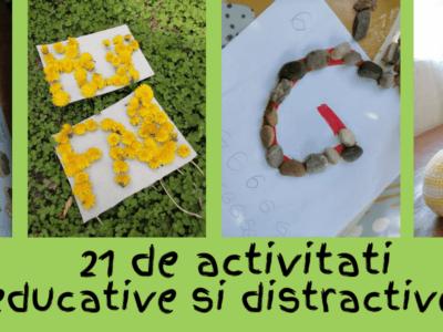 21 de activități distractive și educative pentru copii